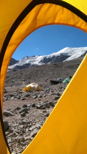 c base camp view from tent