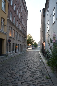 the streets in Chrisianshavn are very quite this Sunday evening
