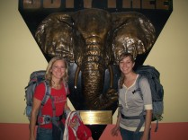 Our first Elephant (in Nairobi airport)