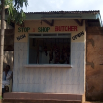 we were impressed by the local butcher shop. Walk-up window.