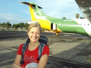 jaimi with plane